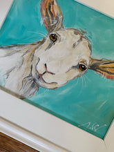 "Load image into Gallery viewer, Original ""Goat"" in White Plein Air Frame"