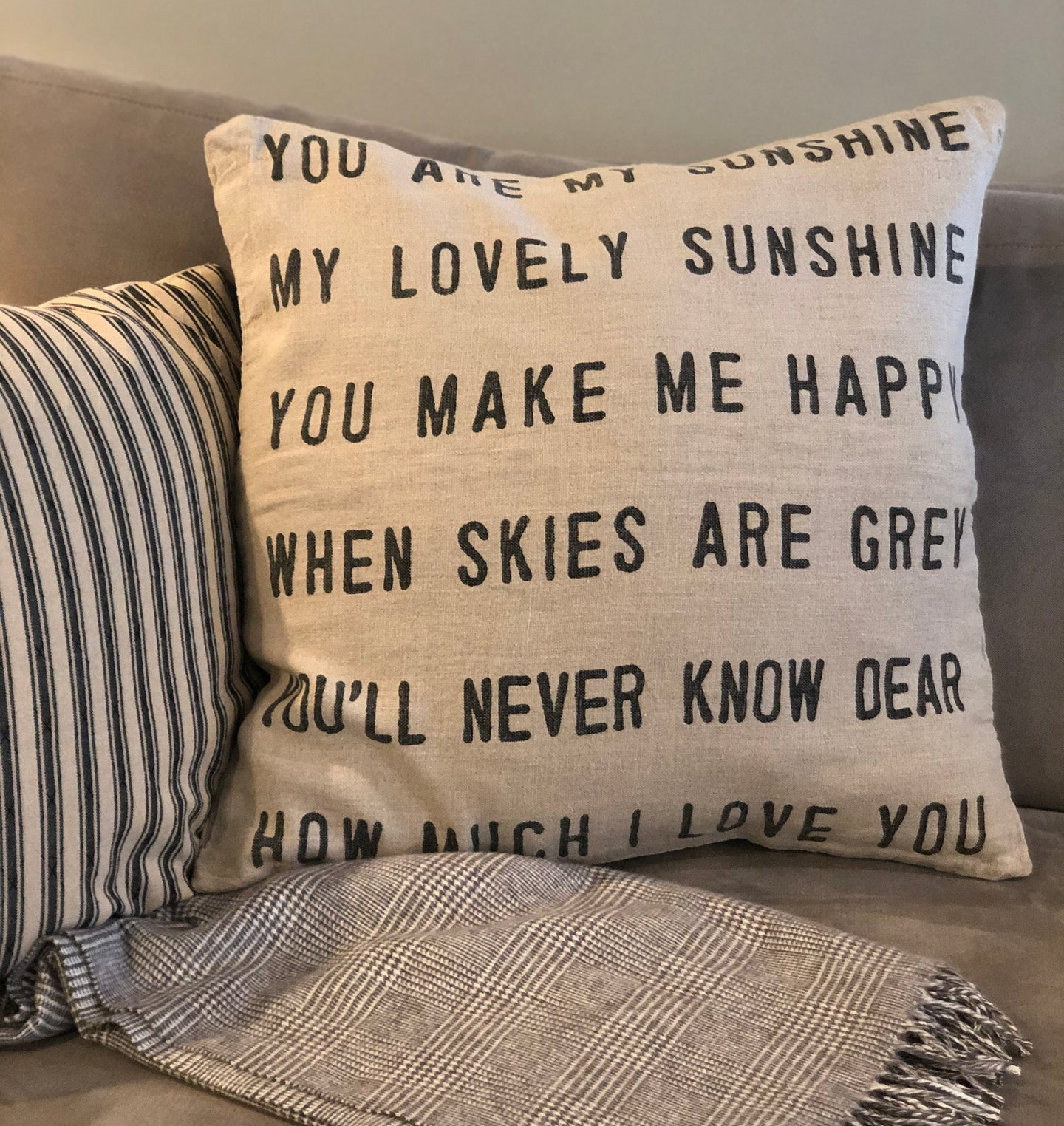 Sugarboo Linen YOU ARE MY SUNSHINE Pillow