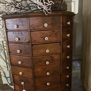 98 Drawers! Hardware Store Revolving Cabinet