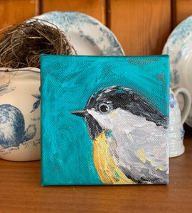 Chickadee Hand painted original