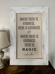 "Cinderella Quote ""Where there is Goodness There is Magic"""