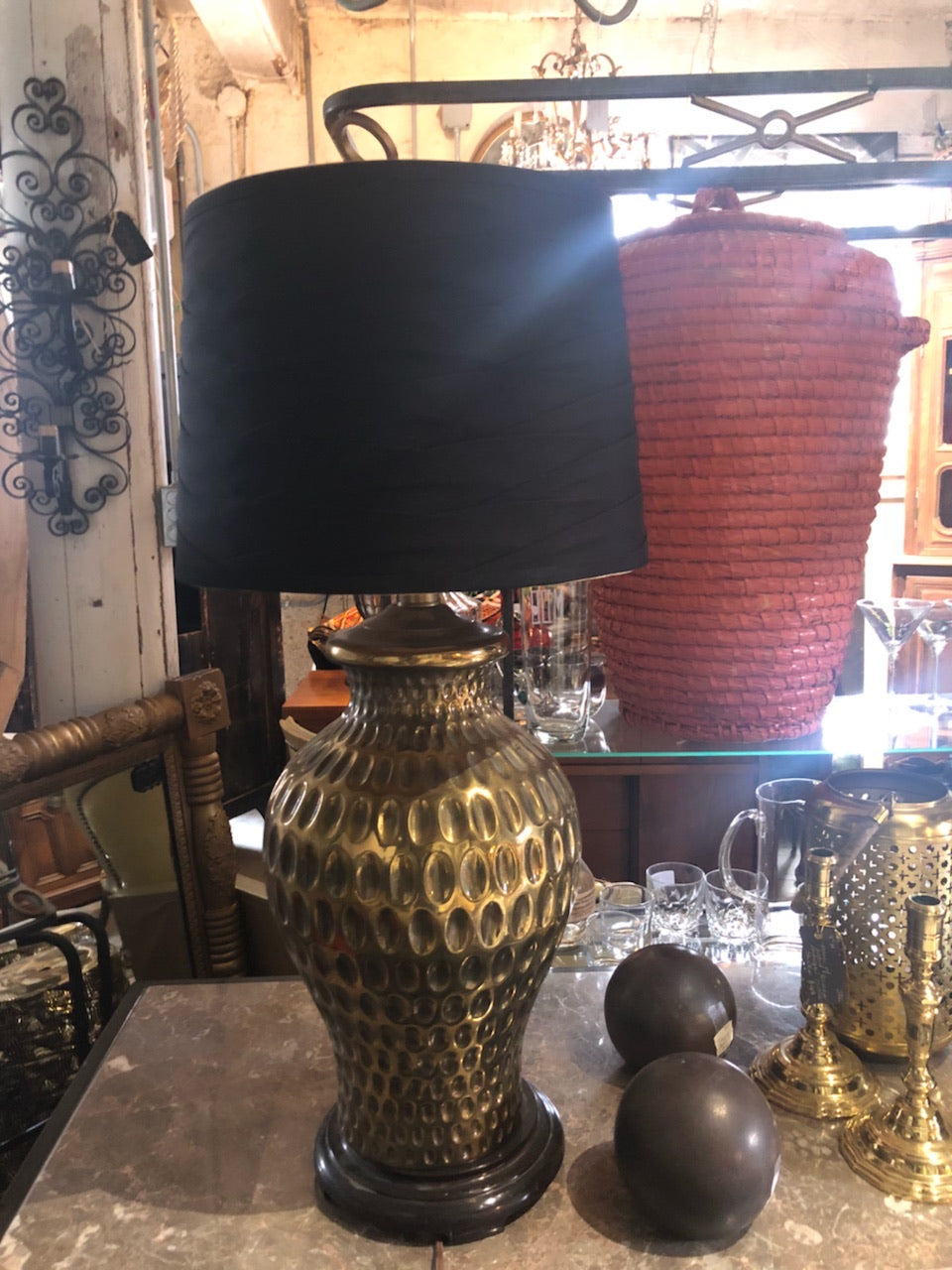 Pair of Solid Brass Vintage Lamps