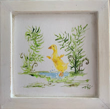 "Load image into Gallery viewer, ""Duck in Ferns"" Framed Original"