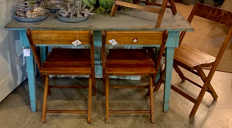 Fabulous Vintage Blue Farm Table