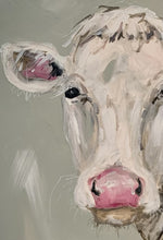 "Load image into Gallery viewer, ""Miss Pink"" Sweet Cow Painted on Canvas"