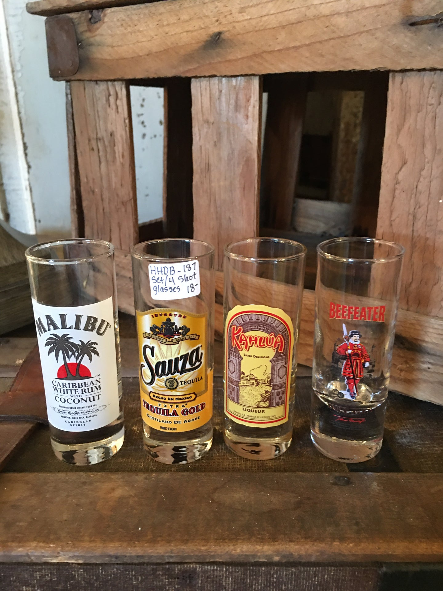 Set of Four Shot Glasses
