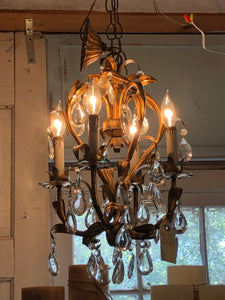 Beautiful Vintage Italian Tole Chandelier