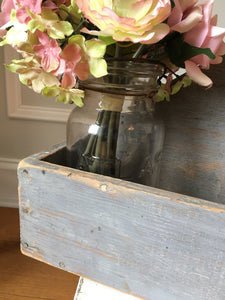 Vintage Gray Wood Tote
