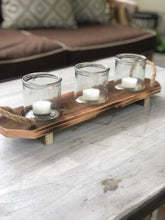 Load image into Gallery viewer, Recycled Wood Candle Holder