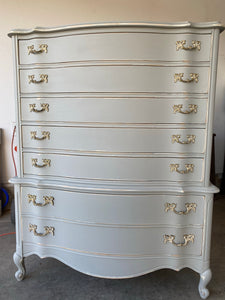 Vintage French Provencial Hi-Boy Chest