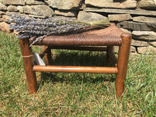 Load image into Gallery viewer, Vintage Rattan Stool