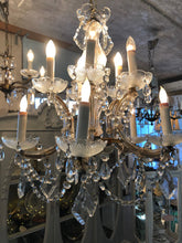 Load image into Gallery viewer, Vintage Crystal Chandelier