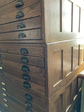 Load image into Gallery viewer, 15 Drawer Hamilton Printer's Cabinet/Map Case