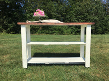 Load image into Gallery viewer, Handmade Three Tier Wood Console