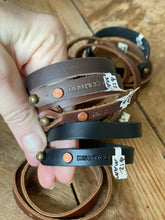 Load image into Gallery viewer, Leather Wrap Band Bracelet