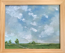 Load image into Gallery viewer, Original Sky Scape in Deep Birch Frame