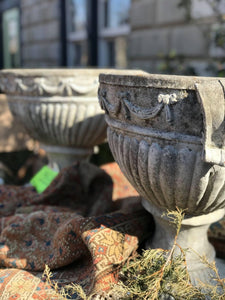 Pair of Old Estate Urns
