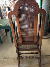 Load image into Gallery viewer, English Walnut Chair with Exceptional Caning