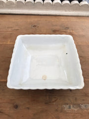 Square Ironstone China Dish