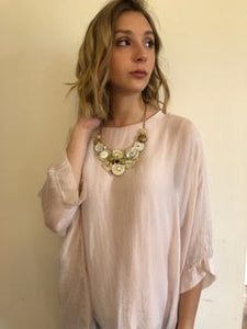 Blush Flowy Two-Layer Top