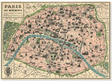 Load image into Gallery viewer, map-of-paris