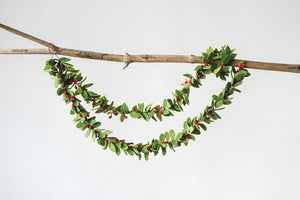 Felt Mistletoe Garland - SALE!