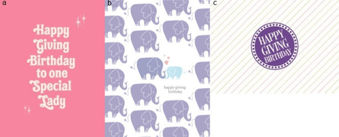 HGB Mini Pink, Elephant and Purple Cards