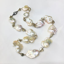 Load image into Gallery viewer, Jumbo fireball pearls with pyrite nuggets, 30""