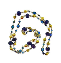 Load image into Gallery viewer, Petite 18k chain with blue sapphires