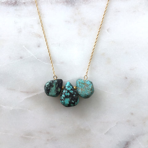 Triangle Turquoise Drop Necklace