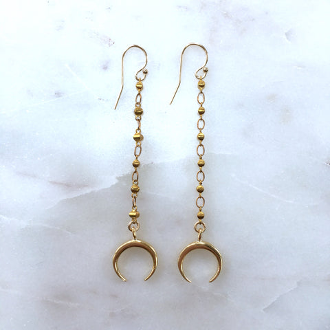 Quartz Dagger Double Teardrop Earrings