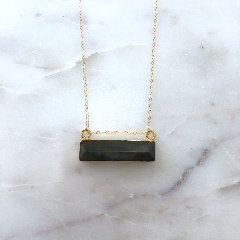 Labradorite Bar Necklace