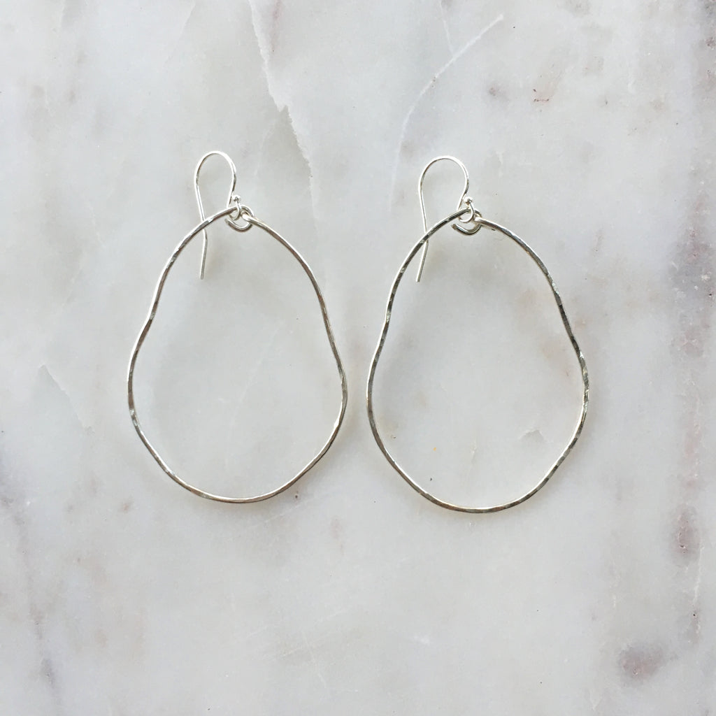 Small Organic Hoops (silver)