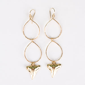 Double Teardrop Jaws Earrings