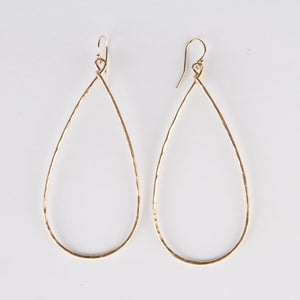 Long Teardrop Hoops (gold)