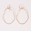Small Organic Hoops (gold)