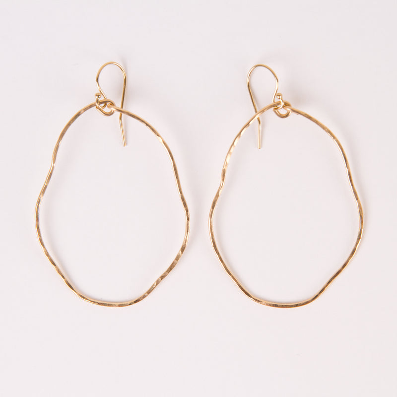 Organic Hoops (gold)