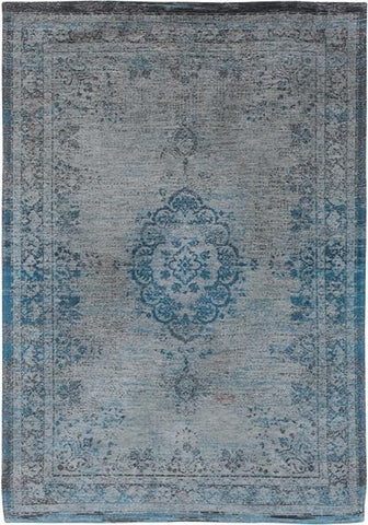 Fading World Medallion Grey Turquoise 8255 Top