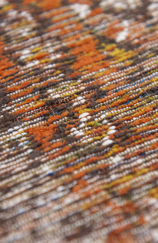 Louis De Poortere Antiquarian Kilim Riad Orange Pile Detail