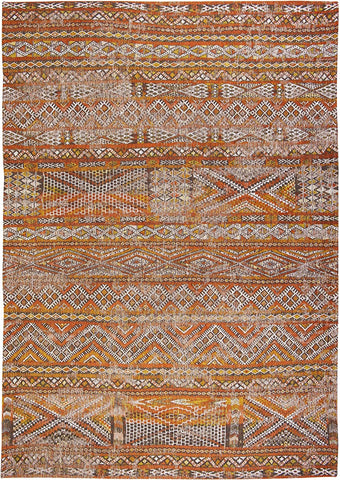 Louis De Poortere Antiquarian Kilim Riad Orange Top Down