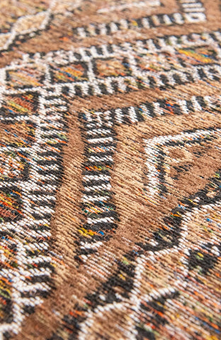 Louis De Poortere Antiquarian Kilim Agdal Brown 9112 Detail of Rug Pile