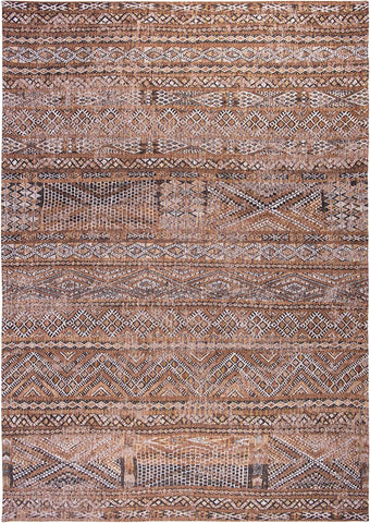 Louis De Poortere Antiquarian Kilim Agdal Brown 9112 Top of Rug