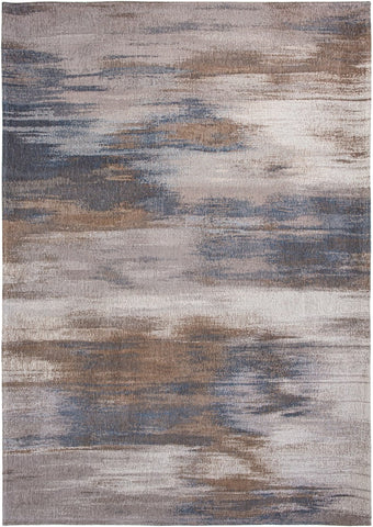 Louis De Poortere Atlantic Monetti Grey Impression Top of Rug