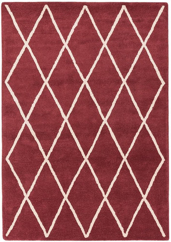 Asiatic Rugs Albany Diamond Berry top of pile