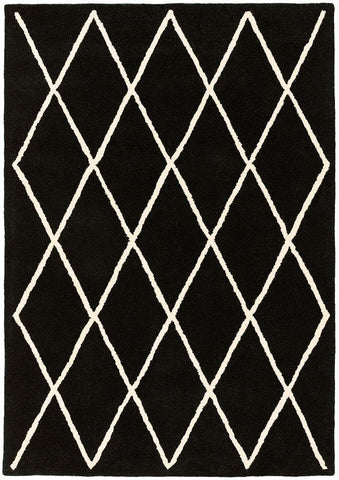 Asiatic Rugs Albany Diamond Black