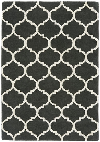 Asiatic Rugs Albany Ogee Charcoal