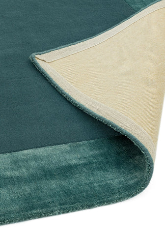 RUGHAUS Asiatic Ascot Aqua Blue Backing