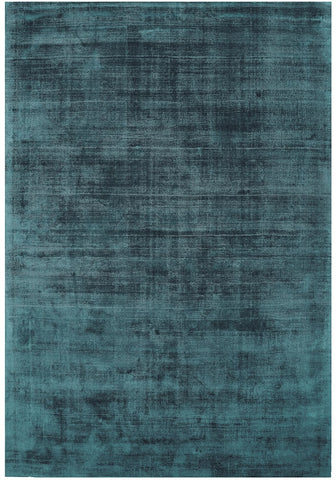 RUGHAUS Asiatic Blade Teal Top of Rug Pile