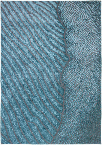 Louis De Poortere Waves Shores Blue Nile 9132 Top of Rug