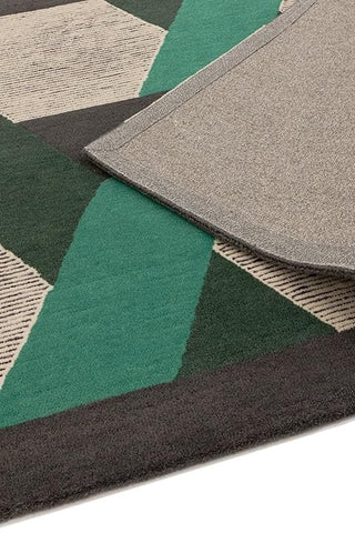 Asiatic Camden Green Rug Detail of Pile